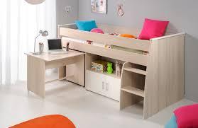 lit avec bureau coulissant enchanteur lit avec bureau pour fille et lit combina enfant en bois
