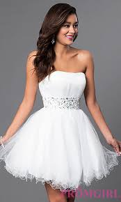 rehearsal dinner dresses in white and ivory promgirl