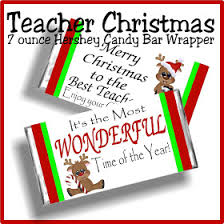 teacher christmas gift printable candy bar wrapper everyday parties