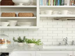 white shaker cabinets at home depot grey grout white subway tile