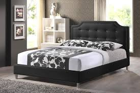 full size platform bed with headboard black building full size