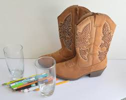 cowgirl boots desk decor love inspired details