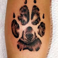basic paw print tattoo paw print hand tattoo on tattoochief com