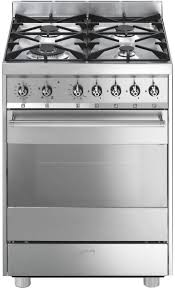 smeg c6gvxa8 60cm freestanding natural gas oven stove appliances