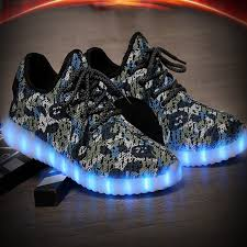 light up shoes charger quality mens green camo led yezzy sneakers light up shoes usb