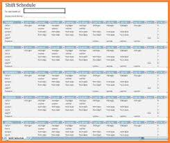 Excel Shift Schedule Template 13 Excel Employee Schedule Template Weekly Bussines 2017
