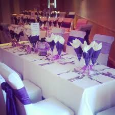 Purple Table L 53 Wedding Table Set Up Tables Set Up For Wedding Reception Stock