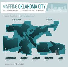 Zip Code Map Okc by How Many Major U S Cities Can You Fit Inside Oklahoma City