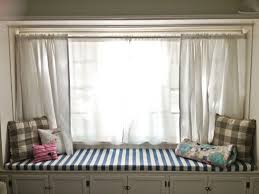 Pattern Window Curtains Striped Pattern Window On White Polished Iron Curtain Rod