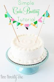 cake banner topper how to make cake bunting