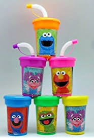 favor cups sesame lot of 12 elmo 16oz party plastic cup