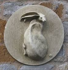 garden wall plaques animal wall plaques hare in moon wall
