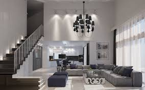 types of spacious modern living room designs which arranged with