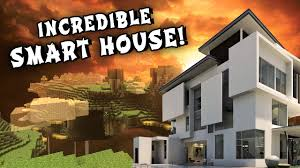 redstone smart house modern mansion w secret rooms and passage