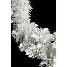 white garland flocked mountain hardneedles white garland 14 x 9 superior studio