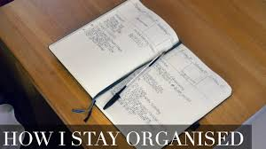 how to stay organised my bullet journal setup youtube