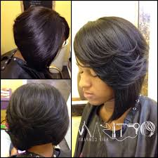 short bob sew in weave hairstyles 1000 ideas about black
