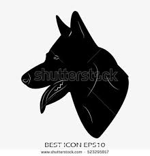 belgian shepherd silhouette dog guard shepherd vector icon eps10 stock vector 523294990