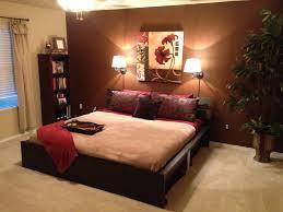 brown walls bedroom dark wood furniture decor paint colors for