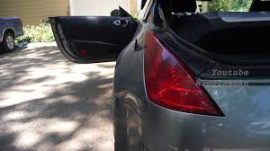 nissan 350z tail lights how to change 350z tail turn signal and reverse lightbulb youtube
