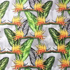 bird of paradise flower fabric velvet bold patterned colourful