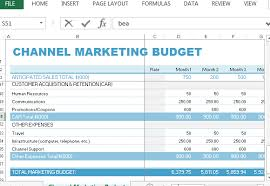Budget Template Excel Channel Marketing Budget Template For Excel
