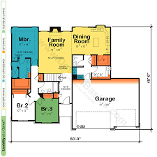 one story open concept floor plans floor plan one story house home plans design basics open floor
