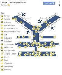 chicago o hare terminal map chicago o hare airport ord terminal 2 map map of terminal 2 at