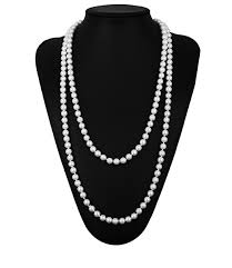 long fashion pearl necklace images 1920s gatsby necklace faux ivory pearl cream extra long 64 png