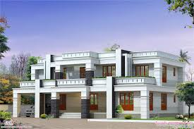 flat roof luxury home design kerala floor plans building plans