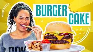 how to make a giant cheeseburger u0026 fries out of cake yolanda