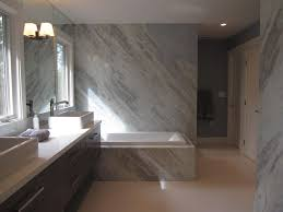 modern master bathroom with corian counters by zeitgeist sonoma