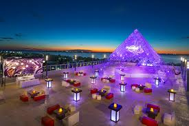 rock cancun wedding sunset terrace rock hotel cancun great location for a