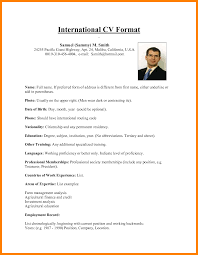 exle of resume format for 5 international cv format hostess resume