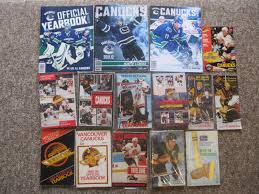 sixteen vancouver canucks yearbooks u0026 guides 1972 to 2013
