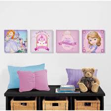 disney sofia the first 4 pack canvas wall art walmart com