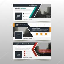 layout page null orange green red corporate business banner template horizontal