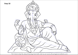 learn how to draw ganesh ji hinduism step by step drawing