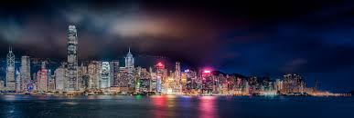 hong kong city nights hd wallpapers panoramic photography of city lights near body of water during