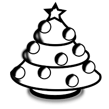 christmas tree black and white christmas tree clip art black and