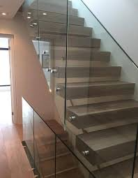 stainless steel standoff for frameless glass staircase glass