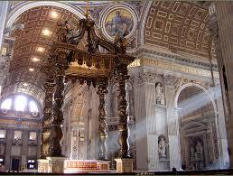 baldacchino by bernini bernini his on st peters basilica maitaly