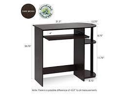 dark brown computer desk furinno 14098r1dbr bk simplistic easy assembly computer desk dark