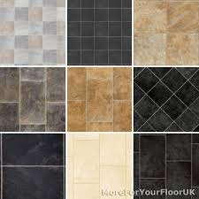 Slate Effect Laminate Flooring New Tiled Effect Vinyl Flooring Roll Quality Lino Stone Slate
