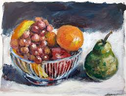 Basket Of Fruit Basket Of Fruit Painting By Alexandra Maria Ethlyn Cheshire