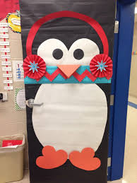winter classroom door who doesn t a penguin with a chevron