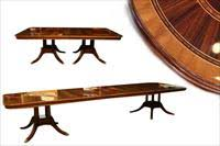 double pedestal tables extra large round and jupe tables