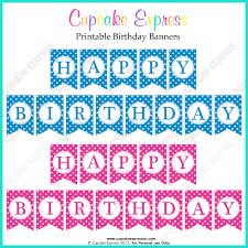 free printable happy birthday banners pink blue free printables