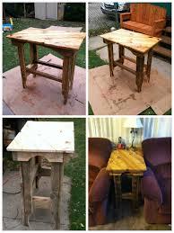 Wood Pallet Recycling Ideas Wood Pallet Ideas by Pallet End Table Pallet Wood Pallets And Spaces