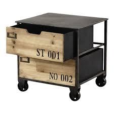 canapé sur roulettes bout de canapé à roulettes en métal l 39 cm metal side table